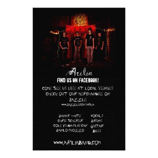 Arilia Promo Poster Personalized Flyer