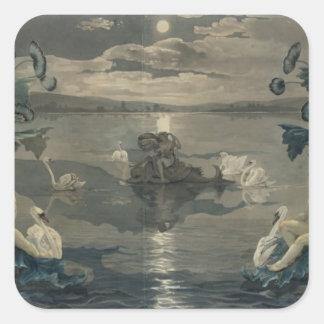 Arion's Sea Journey, 1809 Square Sticker