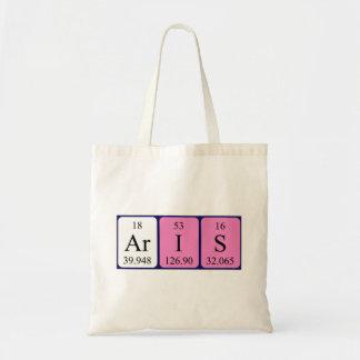Aris periodic table name tote bag