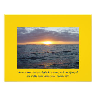 Arise Shine - Isaiah 60:1 21.5 Cm X 28 Cm Flyer