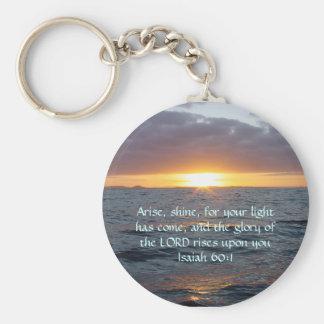 Arise Shine - Isaiah 60:1 Basic Round Button Key Ring