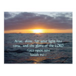 Arise Shine - Isaiah 60:1 Post Card