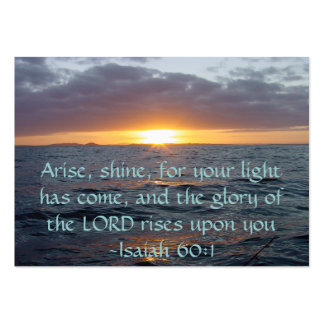 Arise Shine - Isaiah 60:1 Tract Cards / Business Card Templates