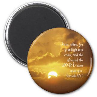 Arise, Shine Sunlight 6 Cm Round Magnet