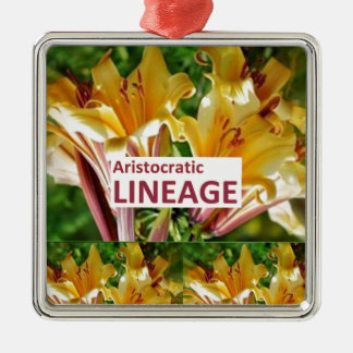 AristocraticLINEAGE Secret fun PHRASE Code Christmas Ornament