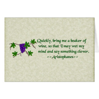 Aristophanes Wine Quote Card