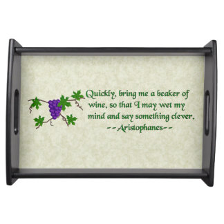 Aristophanes Wine Quote Serving Tray