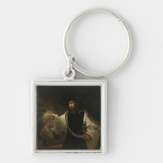 Aristotle (384-322 BC) with a Bust of Homer Key Ring