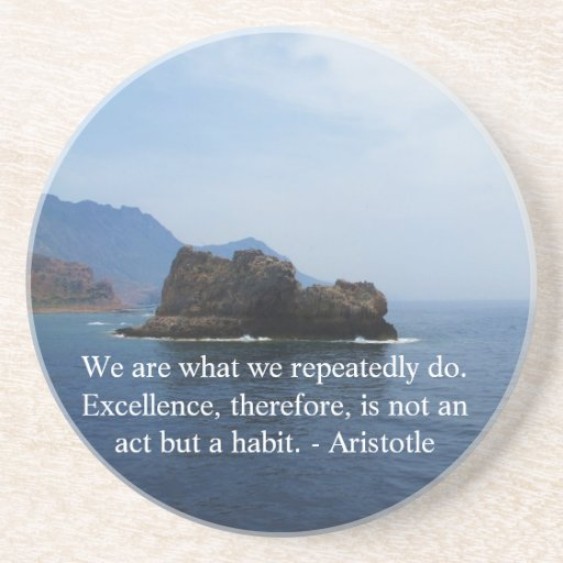 Aristotle Excellence Quotation Coaster