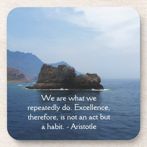 Aristotle Excellence Quotation Coasters