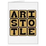 Aristotle, Greek Philosopher Cards