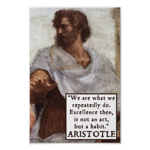 Aristotle - Habits quote motivational poster