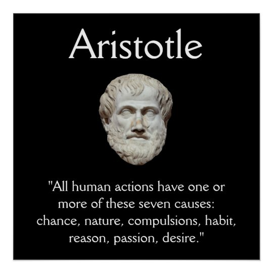 Aristotle - Human Behaviour Quote Poster