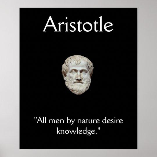 Aristotle - Knowledge Quote Poster