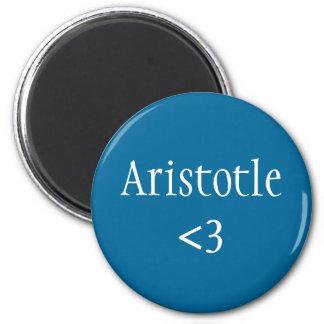 Aristotle love 6 cm round magnet