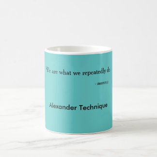 Aristotle mug we are what we do