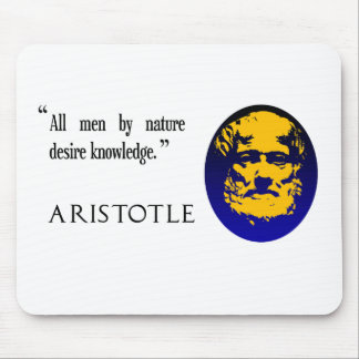 Aristotle on knowledge. Mousepad, mousemat