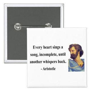 Aristotle Quote 3b 15 Cm Square Badge