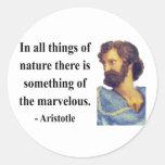Aristotle Quote 5b Round Sticker