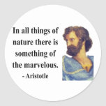 Aristotle Quote 5b Round Stickers