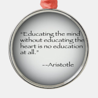 Aristotle Quote Christmas Ornament