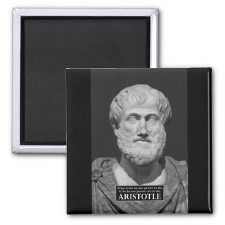 Aristotle 'self-disciple' wisdom quote magnet