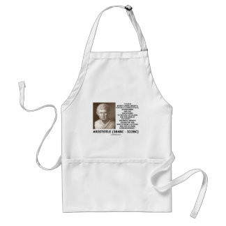 Aristotle State Not Mere Society Noble Action Standard Apron