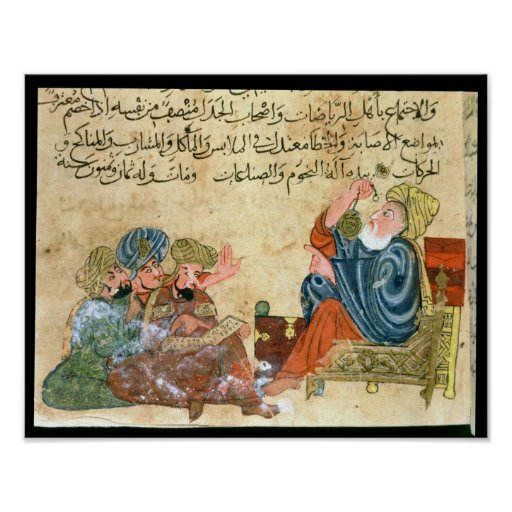 Aristotle teaching poster