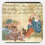 Aristotle teaching square sticker