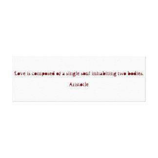 Aristotle Valentine's Day Canvas Canvas Print