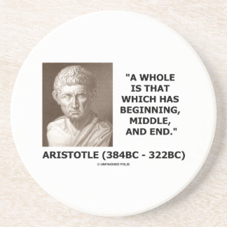 Aristotle Whole Which Has Beginning Middle End Beverage Coasters