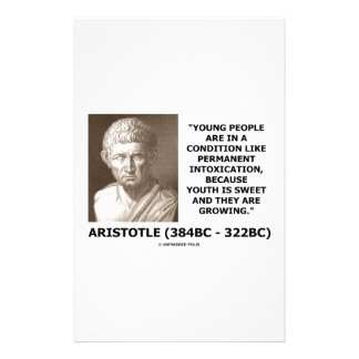Aristotle Young People Condition Intoxication Stationery Paper