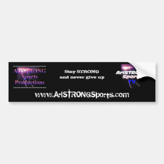 AriSTRONG Sports bumper sticker