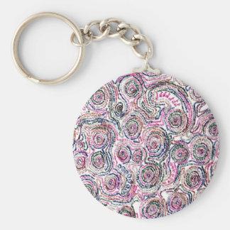 Arithmetic Mandara key holder Basic Round Button Key Ring