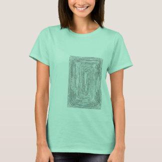 Arithmetic Mandara of bright color of the sea T-Shirt