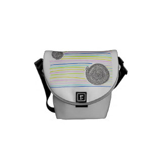 Arithmetic Mandara who has the rainbow Messenger Bags