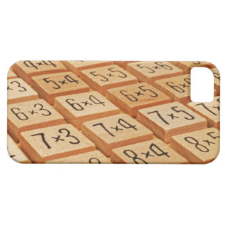 Arithmetic. Multiplication times table wooden Barely There iPhone 5 Case