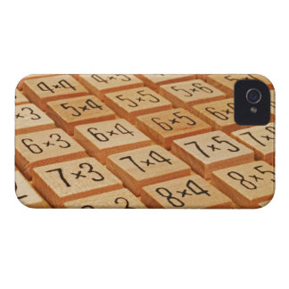 Arithmetic. Multiplication times table wooden Case-Mate iPhone 4 Cases