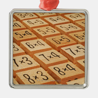Arithmetic. Multiplication times table wooden Christmas Ornament