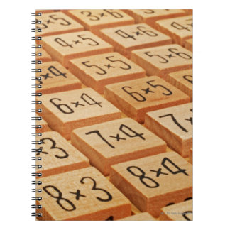 Arithmetic. Multiplication times table wooden Notebooks