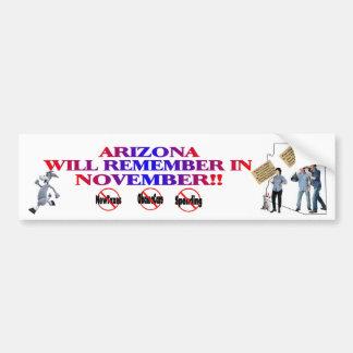 Arizona - Anti ObamaCare, New Taxes & Spending Bumper Sticker