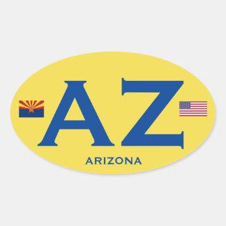 Arizona (AZ) Euro-Style Oval Sticker