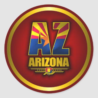 Arizona AZ Round Sticker