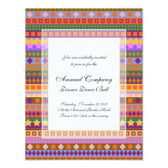 Arizona Aztec Desert Colours Southwest ZigZag Card
