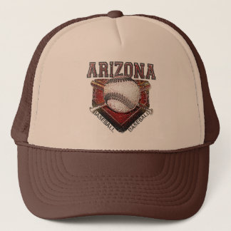 Arizona Baseball Grunge Style Design Trucker Hat