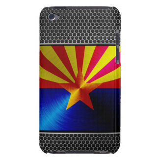 Arizona brushed metal flag barely there iPod covers