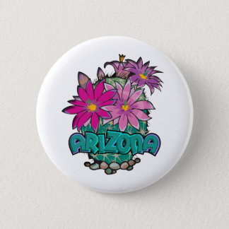 Arizona Cactus Blooms 6 Cm Round Badge