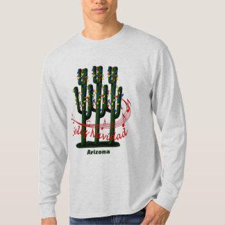 Arizona Cactus Christmas Feliz Navidad T-shirt