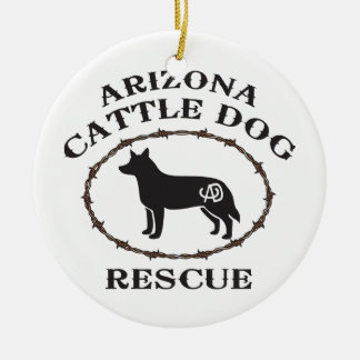 Arizona Cattle Dog Rescue Christmas Ornament