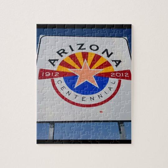 Arizona Centennial Sign Jigsaw Puzzles